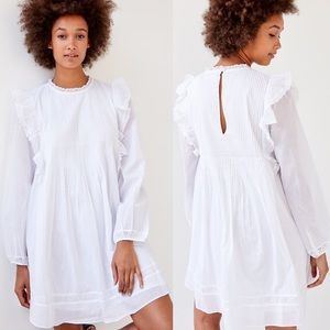 Aritzia Wilfred Elia White Le Bohème Boho Dress M